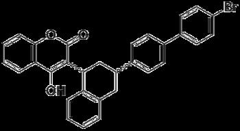 Структурная формула бродифакума