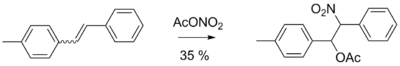 Присоединение ацетилнитрата к алкенам