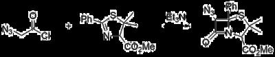 Azidoacetyl chloride for beta-lactams.png