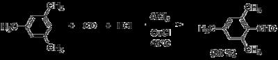 Схема реакции Гаттермана— Коха