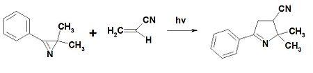 Reaction 2H-azirine with acrilonitrile.jpg