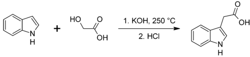 Synthesis of indole-3-acetic acid.png