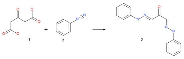Acetondicarboxylic acid Azo Coupling.png