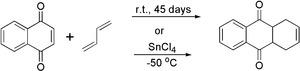 Реакция Дильса — Альдера 1,4-нафтохинона с 1,3-бутадиеном
